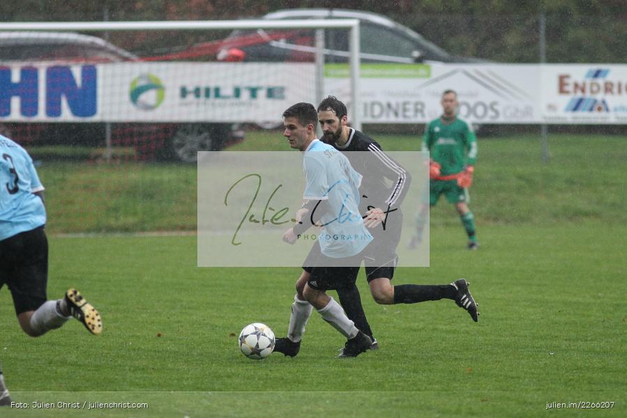 Christian Bauer, Julian Golz, 06.10.2019, Kreisliga Würzburg, FV 05 Helmstadt, SV Altfeld - Bild-ID: 2266207