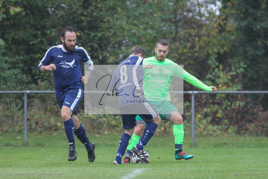Marc Strauß, Erich Meisner, Nils Lotter, 06.10.2019, Kreisliga B TBB, SpG TSV Dittwar/FC Heckfeld, Kickers DHK Wertheim 2 - Bild-ID: 2266307