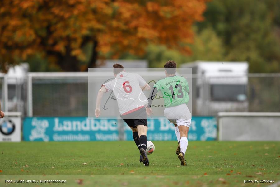 Noah Edelhäuser, Michael Fromm, 19.10.2019, U19 Bezirksoberliga Unterfranken, (SG) TSV/DJK Wiesentheid, (SG) FV Karlstadt - Bild-ID: 2269247