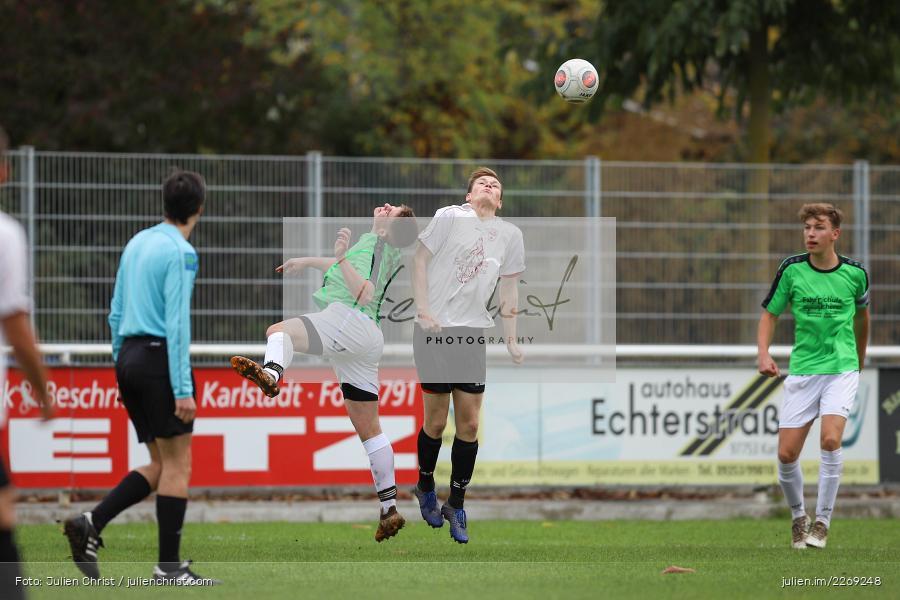 Michael Fromm, Jannis Habel, 19.10.2019, U19 Bezirksoberliga Unterfranken, (SG) TSV/DJK Wiesentheid, (SG) FV Karlstadt - Bild-ID: 2269248