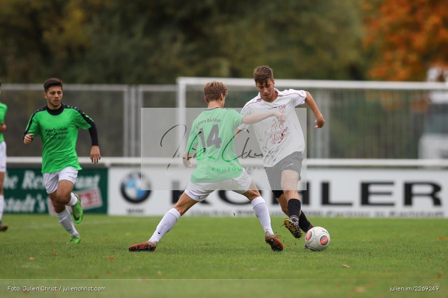 Tobias Stenger, Max Krug, 19.10.2019, U19 Bezirksoberliga Unterfranken, (SG) TSV/DJK Wiesentheid, (SG) FV Karlstadt - Bild-ID: 2269249