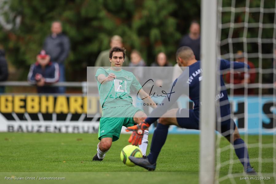 Marvin Fischer-Vallecilla, Christian Schrödl, 19.10.2019, Bayernliga Nord, DJK Ammerthal, TSV Karlburg - Bild-ID: 2269329
