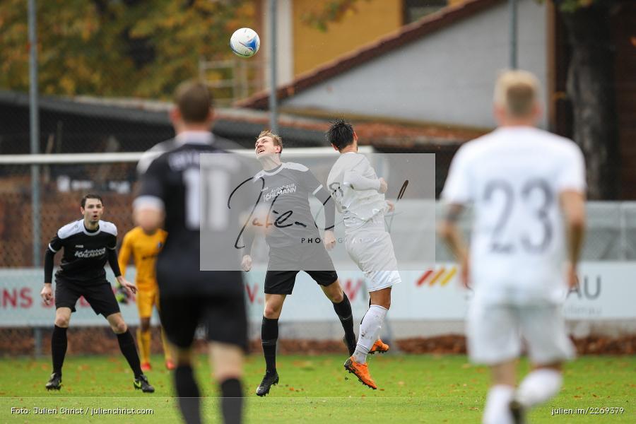 Marco Schiebel, Cristian Dan, 02.11.2019, Bayernliga Nord, TSV Karlburg, Würzburger FV - Bild-ID: 2269379
