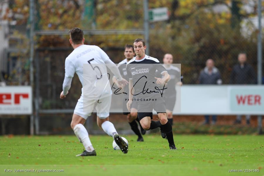 David Drösler, Sebastian Fries, 02.11.2019, Bayernliga Nord, TSV Karlburg, Würzburger FV - Bild-ID: 2269385