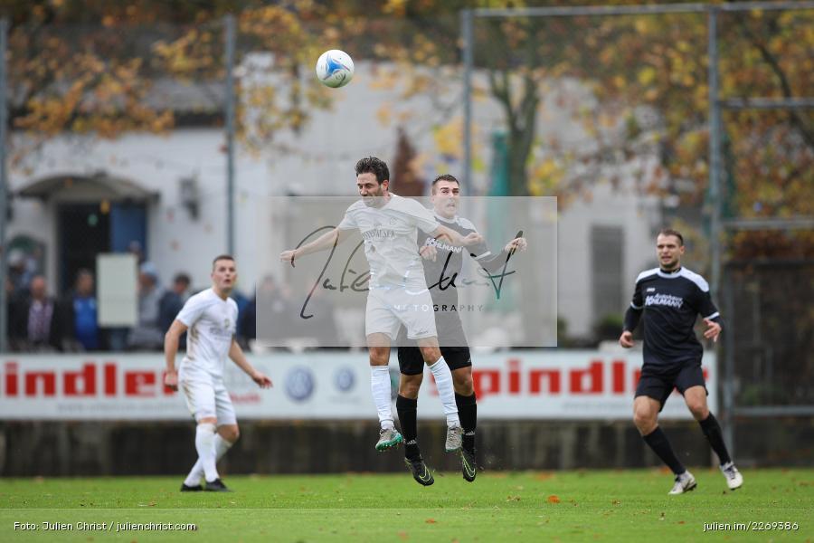 Benjamin Schömig, Andreas Rösch, 02.11.2019, Bayernliga Nord, TSV Karlburg, Würzburger FV - Bild-ID: 2269386