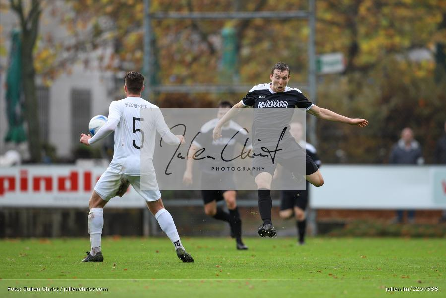 David Drösler, Sebastian Fries, 02.11.2019, Bayernliga Nord, TSV Karlburg, Würzburger FV - Bild-ID: 2269388