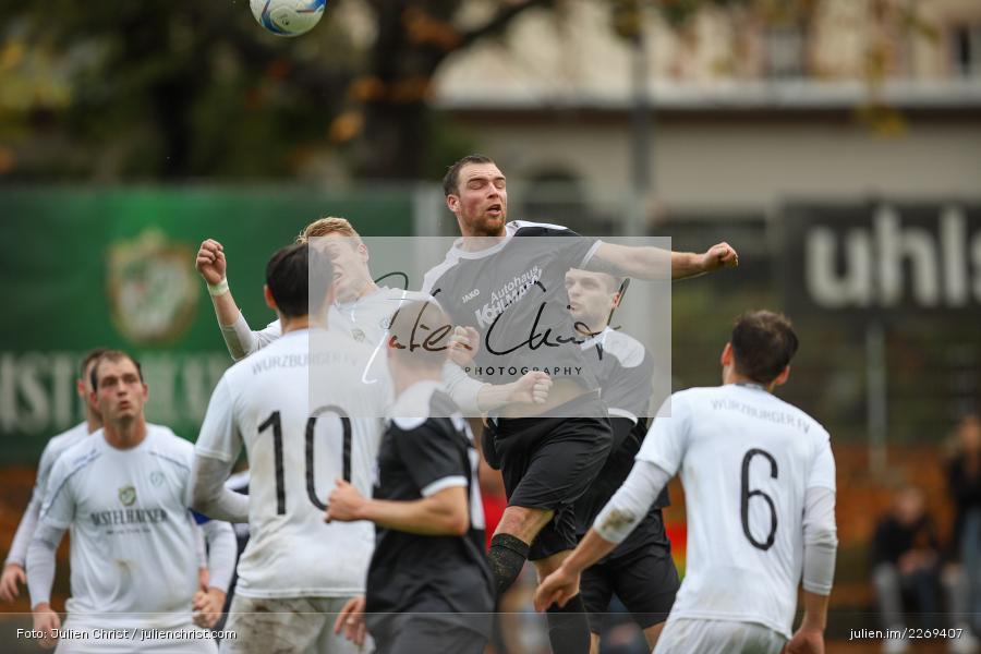 Paul Obrusnik, Maurice Kübert, 02.11.2019, Bayernliga Nord, TSV Karlburg, Würzburger FV - Bild-ID: 2269407