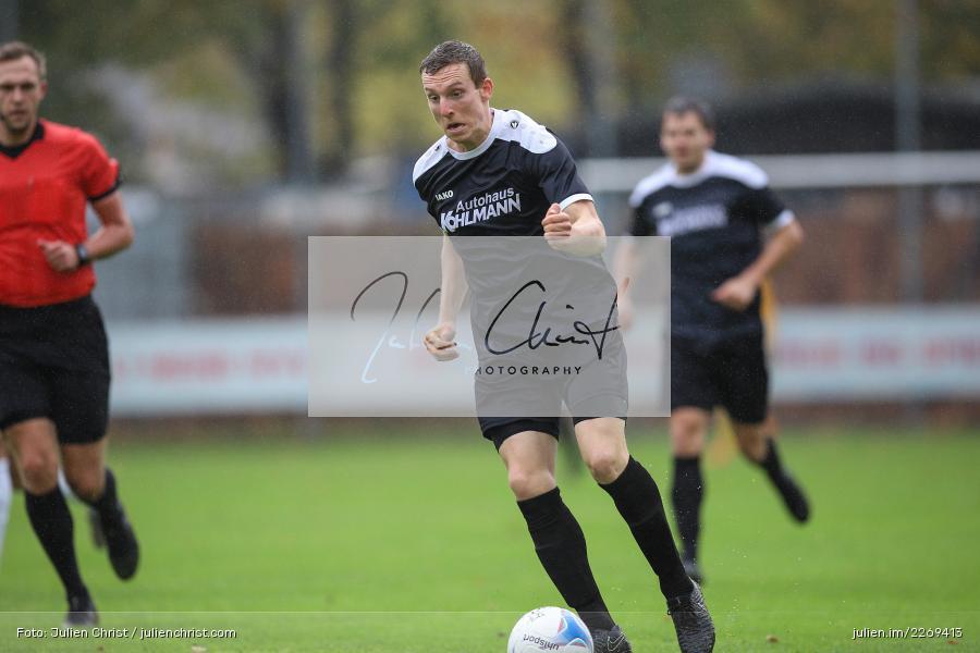 Sebastian Fries, 02.11.2019, Bayernliga Nord, TSV Karlburg, Würzburger FV - Bild-ID: 2269413