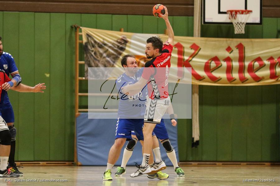 Daniel Hausmann, Markus Losert, Bezirksliga Staffel Nord, 03.11.2019, TV Gerolzhofen, TSV Karlstadt - Bild-ID: 2269612