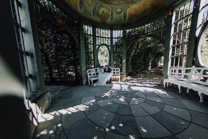 Aldona + Frederic : Hochzeit in einem Gewächshaus bei Würzburg