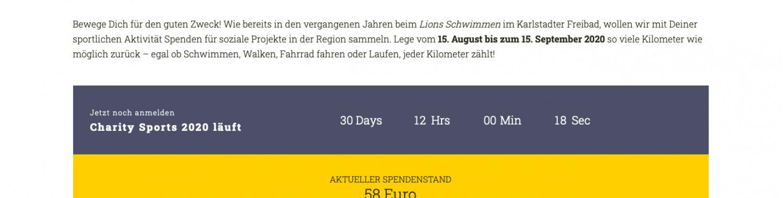 Lions-Club Mittelmain Karlstadt bringt Charity Sports an den Start